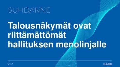 Lataa: Aki Kangasharjun kalvot syksyn Suhdanne 2021 julkistamistilaisuudessa